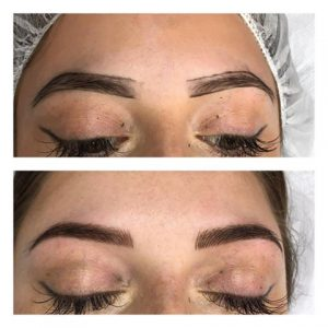 combination brows microblading